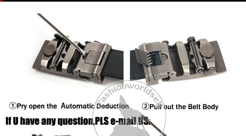 Điều chỉnh chiều dài thắt lưng nam cao cấp khóa tự động