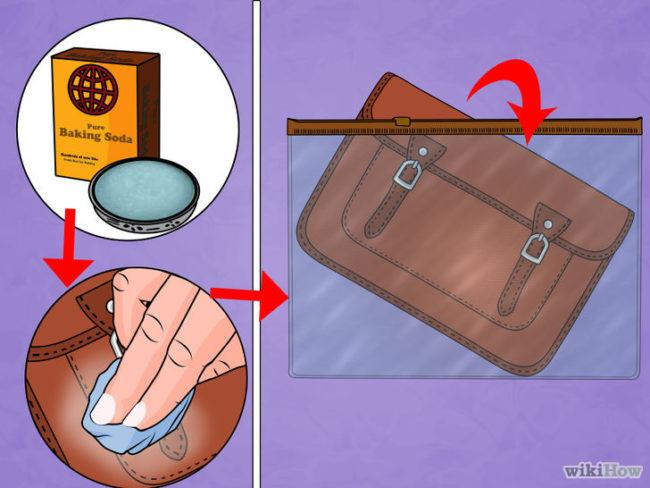 cách khử mùi áo giả da