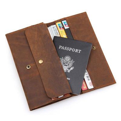 Ví đựng passport da thật