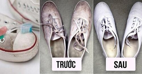 cách vệ sinh giày vải