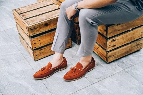 phối đồ với giày lười nam