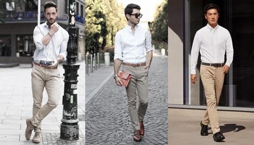 quần kaki đi với giày gì
