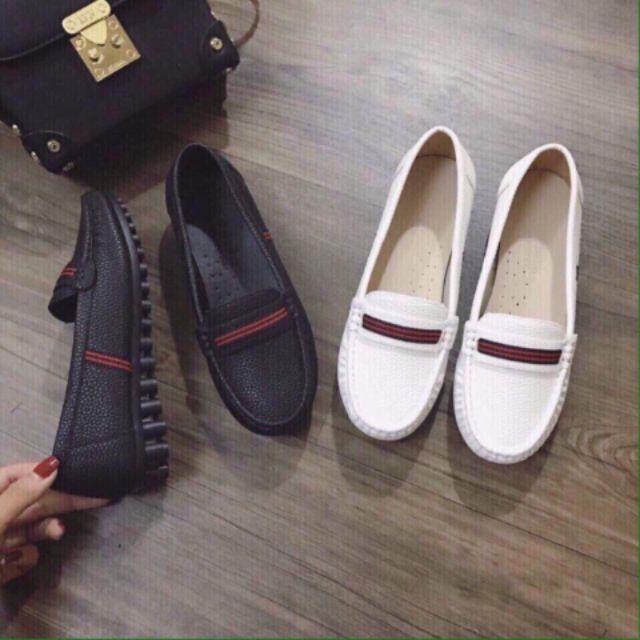 phối đồ với giày lười nữ