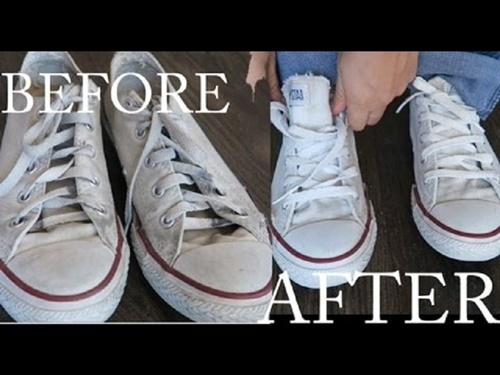 cách làm trắng giày vải