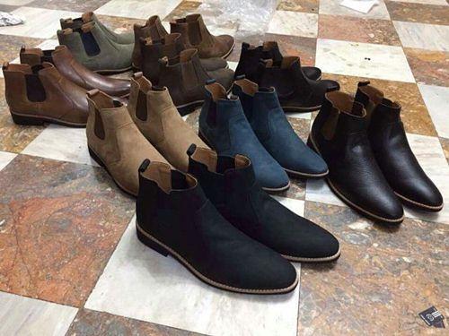 Giày boot da nam