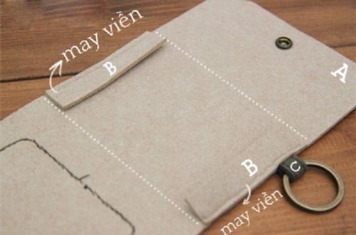 cách làm ví đựng tiền bằng vải nỉ nhieu ngan