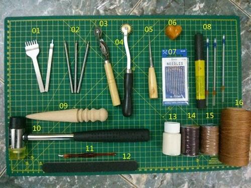 hướng dẫn làm đồ da handmade