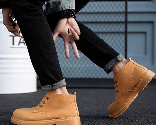 giày da cổ cao