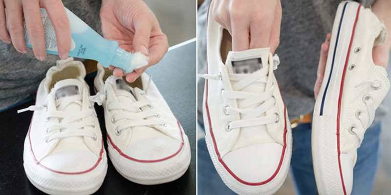 cách làm sạch giày trắng