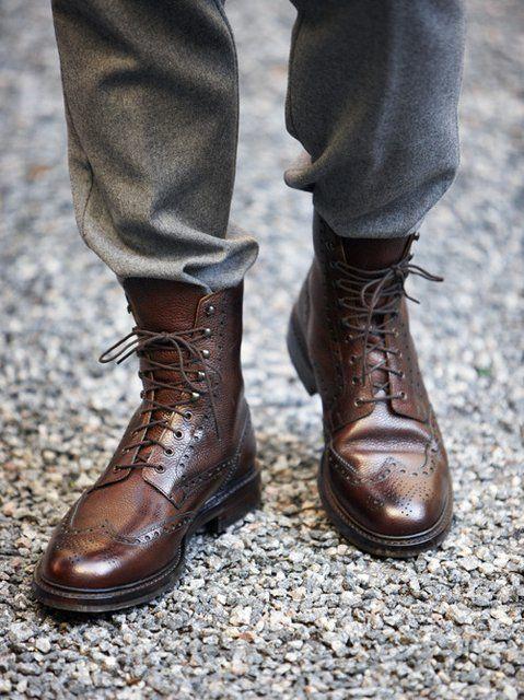 giày cao cổ nam cột dây