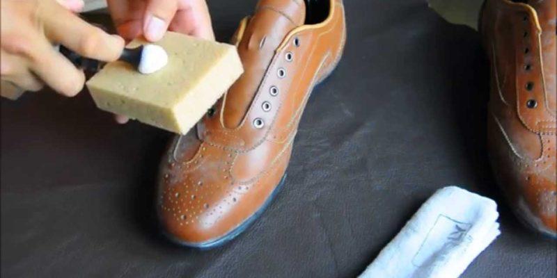 cách giặt giày da