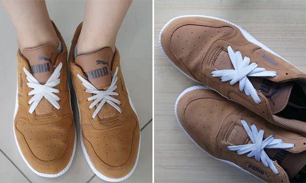 cách thắt dây giày 5 lỗ