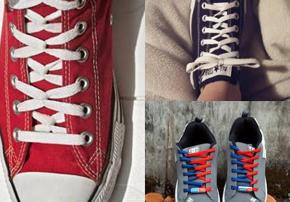 cách thắt dây giày converse 5 lỗ