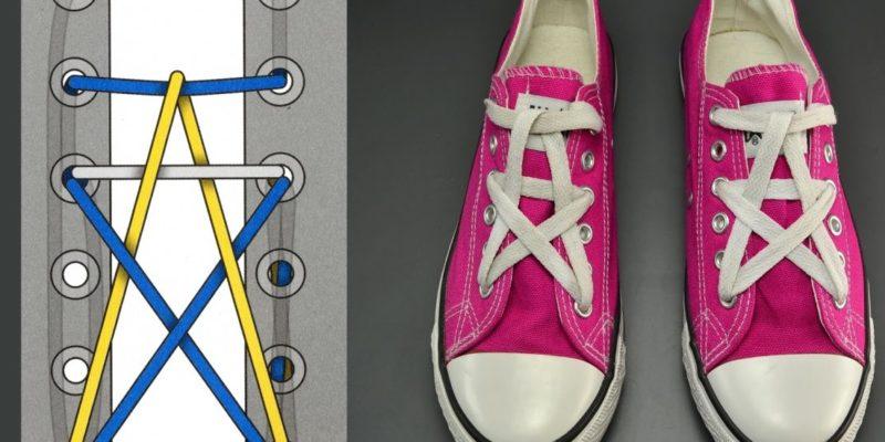 cách thắt dây giày thể thao