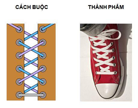 cách thắt giày đẹp