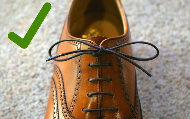 cách thắt nơ dây giày