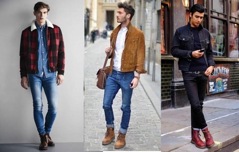 phoi giay boot voi quan jeans