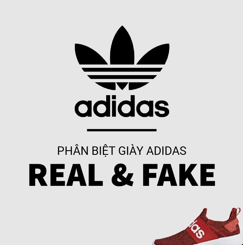 phan biet giay adidas that gia
